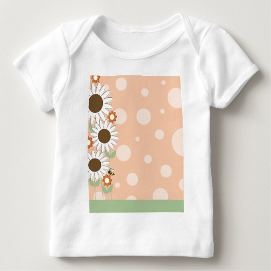 Daisy Flower Border Baby T-Shirt
