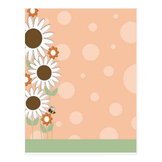 Daisy Flower Border Post Card