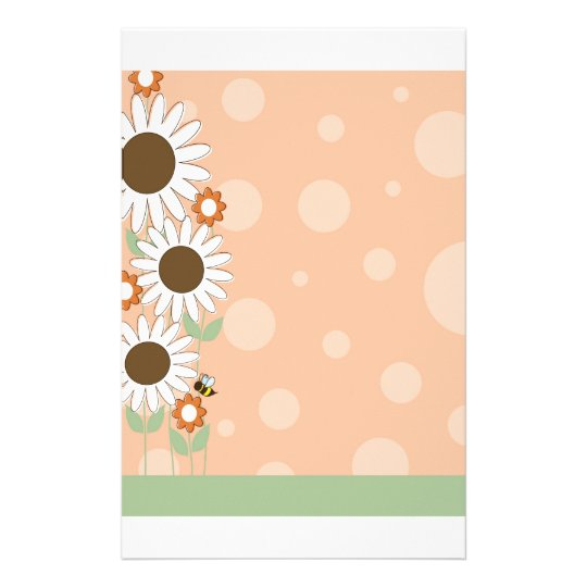 Daisy Flower Border Stationery