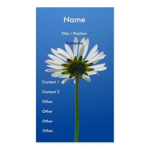 Daisy Flower Business Card vertical