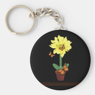 Daisy Flower Butterfly Keychains
