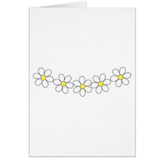 Daisy flower chain customizable card