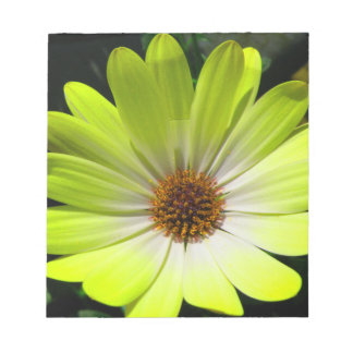 Daisy Flower Fluorescent Yellow Notepad