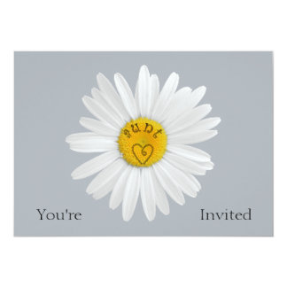 Daisy Flower For Aunt Art Customize Background 5x7 Paper Invitation Card