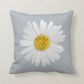 Daisy Flower For Aunt Art Customize Background Throw Pillow