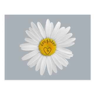 Daisy Flower For Daughter Art Customize Background Postcard
