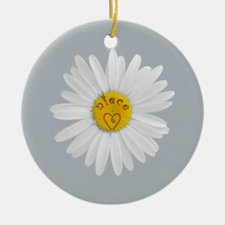 Daisy Flower For Niece Art Customize Background Ceramic Ornament