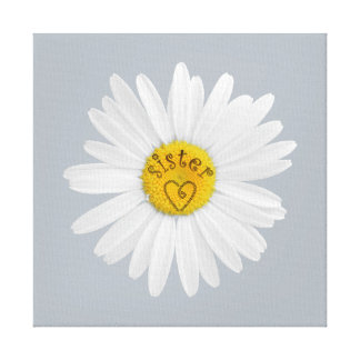 Daisy Flower For Sister Art Customize Background Canvas Print