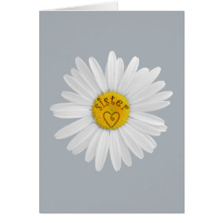 Daisy Flower For Sister Art Customize Background Card