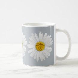 Daisy Flower For Sister Art Customize Background Coffee Mug