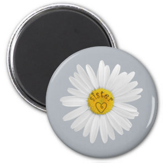 Daisy Flower For Sister Art Customize Background Magnet