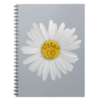 Daisy Flower For Sister Art Customize Background Notebook