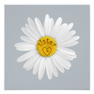 Daisy Flower For Sister Art Customize Background Photo Print