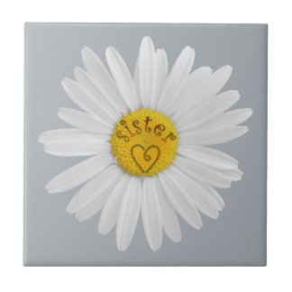 Daisy Flower For Sister Art Customize Background Tile