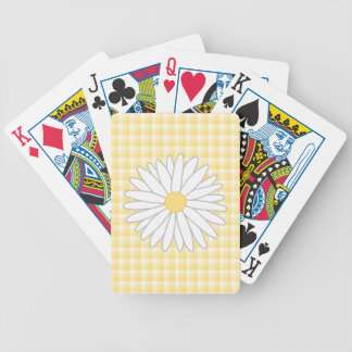 Daisy Flower in Yellow and White. Bicycle Playing Cards