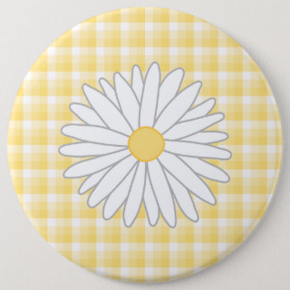 Daisy Flower in Yellow and White. Button