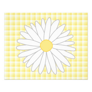 Daisy Flower in Yellow and White. Flyers