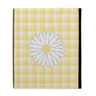 Daisy Flower in Yellow and White. iPad Folio Covers
