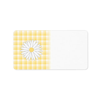 Daisy Flower in Yellow and White. Address Label