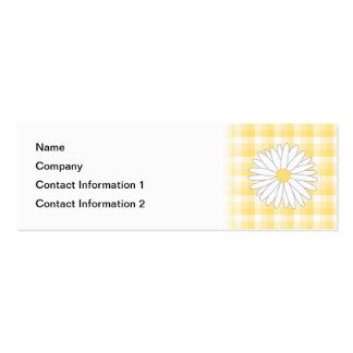 Daisy Flower in Yellow and White. Mini Business Card