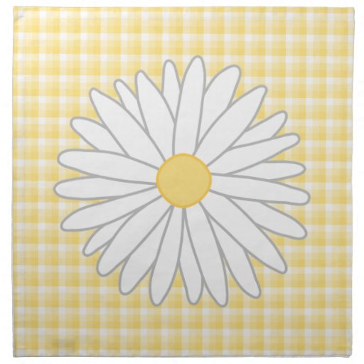 Daisy Flower in Yellow and White. Napkin