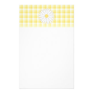 Daisy Flower in Yellow and White. Customized Stationery