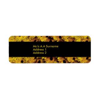 Daisy flower label