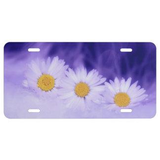 Daisy Flower License Plate