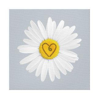 Daisy Flower Love Art Customize Background Canvas Print