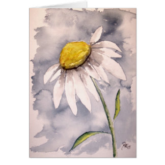 Daisy flower painting art gift card
