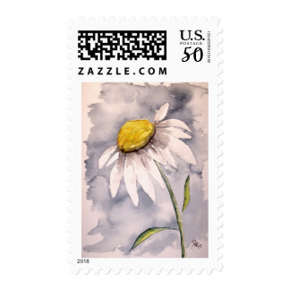 daisy flower painting postage