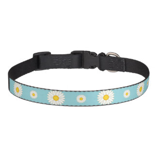 Daisy Flower Pattern Pet Collar