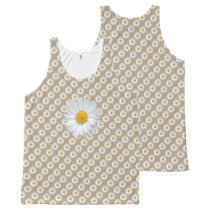 Daisy Flower Photo Pattern All-Over-Print Tank Top