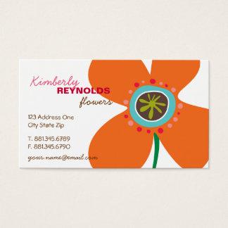 Daisy Flower Pop Fun Summer Daisies Whimsical Cute Business Card