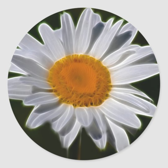 Daisy flower power classic round sticker