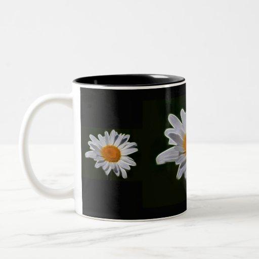 Daisy flower power Two-Tone coffee mug