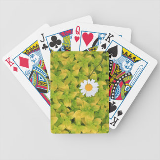 Daisy Flower Reaching For The Sun Bicycle Playing Cards