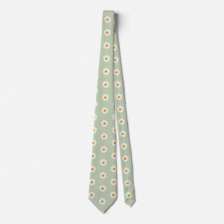 Daisy Flower Smiley Face Neck Tie