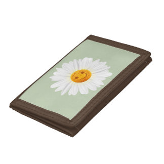 Daisy Flower Smiley Face Trifold Wallet