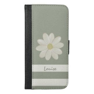 Daisy Flower Stripes iPhone 6/6s Plus Wallet Case