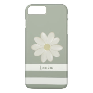 Daisy Flower Stripes Personalized iPhone 7 Plus iPhone 7 Plus Case