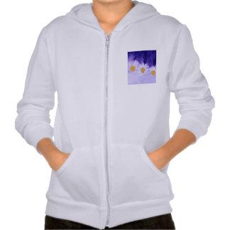 Daisy Flower Hooded Sweatshirt