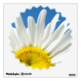 Daisy Flower Wall Decals custom Add Your Text