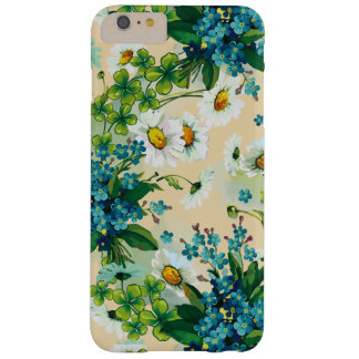 Daisy Flower Wreath with Clover for Good Luck Barely There iPhone 6 Plus Case