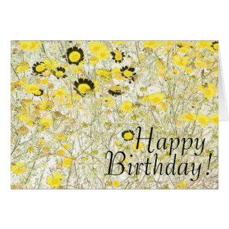 Daisy Flowers Art Birthday Card