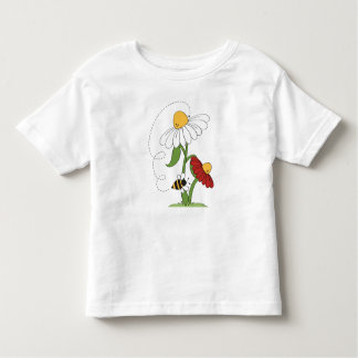 Daisy Flowers Bee Honeybee Garden Spring Summer Toddler T-shirt