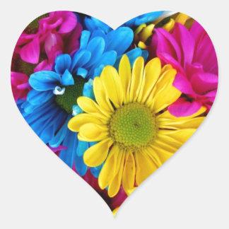 Daisy Flowers Blossoms Love Destiny Shower Party Heart Sticker