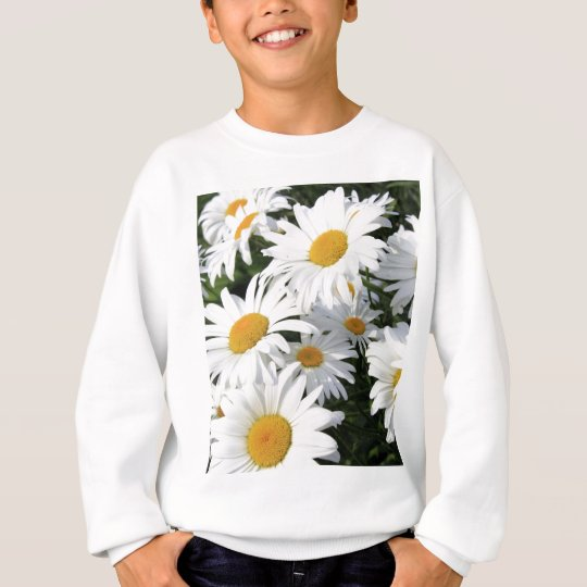 Daisy Flowers Growing White Sweatshirt