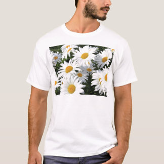 Daisy Flowers Growing White T-Shirt