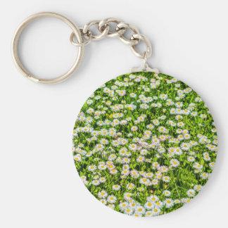 Daisy flowers key chain